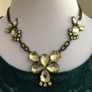 2/$20 Antiqued Gold Tone Statement Necklace *L2K*